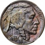 1937-D Buffalo Nickel. FS-901. 3-Legged. MS-61 (NGC).