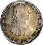 COLOMBIA. 1816-NR 1/2 Real. Santa Fe de Nuevo Reino (Bogotá) mint. Ferdinand VII (1808-1833). Restre