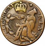 Undated (ca. 1652-1674) St. Patrick Halfpenny. Vlack 1-B. Rarity-4. Large Letters. VF-35 (PCGS).