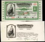 COLOMBIA. Lot of (2) Banco Industrial. 1 Peso, 1919. P-S551s & S551pp1. Specimen & Front Progressive