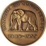 CONGO. Banque du Congo Bronze Medal, 1959. UNCIRCULATED.