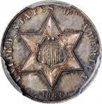 1862 Silver Three-Cent Piece. Proof-64 (PCGS).