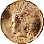 1932 Indian Eagle--Reverse Struck Thru--MS-64 (NGC).
