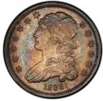 1836 Capped Bust Quarter. Browning-1. Rarity-3. Mint State-63 (PCGS).PCGS Population: 9, 9 fin