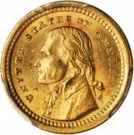 1903 Louisiana Purchase Exposition Gold Dollar. Jefferson Portrait. MS-63 (PCGS). Gold Shield Holder