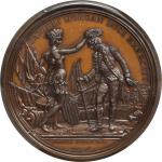 1781 (post 1839) Daniel Morgan at Cowpens Medal. Barre Copy Dies. Bronzed Copper. 56 mm. Adams and B