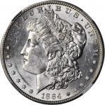 1884-S Morgan Silver Dollar. AU-58+ (NGC).