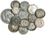 Italy, Kingdom, miscellaneous silver coins (12), Vittorio Emanuele II, 5-Lire, 1878-R; also Lire, 18