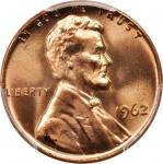 1962 Lincoln Cent. MS-67 RD (PCGS).
