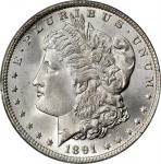 1891 Morgan Silver Dollar. MS-65 (PCGS). CAC. OGH.