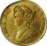 GREAT BRITAIN. 2 Guineas, 1709. London Mint. Anne. NGC VF Details--Removed from Jewelry, Tooled.