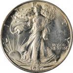 1937-S Walking Liberty Half Dollar. MS-64 (PCGS). OGH--First Generation.
