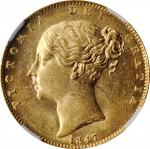 GREAT BRITAIN. Sovereign, 1847. London Mint. Victoria. NGC MS-61.