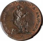 Great Britain--Middlesex. Undated (1790s) Am I Not a Man and a Brother Farthing Token. D&H-1089. Cop