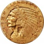 1911-D Indian Half Eagle. AU-50 (PCGS).