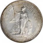 1899-B年英国贸易银元站洋壹圆银币。孟买铸币厂。 GREAT BRITAIN. Trade Dollar, 1899-B. Bombay Mint. Victoria. PCGS MS-62.