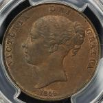 GREAT BRITAIN Victoria ヴィクトリア(1837~1901) Penny 1859 PCGS-MS62BN AU