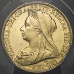 GREAT BRITAIN Victoria ヴィクトリア(1837~1901) 2Pounds 1893 PCGS-PR62 CAM Proof -UNC