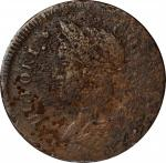 1787 Connecticut Copper. Miller 32.4-F, W-3240. Rarity-6. Draped Bust Left. Very Fine, Porous.