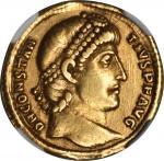 CONSTANTIUS II, A.D. 337-361. AV Solidus (4.43 gms), Antioch Mint, ca. A.D. 355-361. NGC EF, Strike: