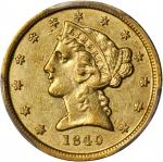 1840-D Liberty Head Half Eagle. Tall D. AU-50 (PCGS).