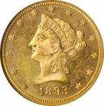 1893 Liberty Head Eagle. MS-63 PL (NGC).