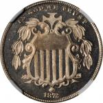 1872 Shield Nickel. Doubled Die Obverse. Proof-67+ Cameo (NGC).