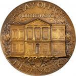 1919 U.S. Assay Office, New York Cornerstone Laying Medal. Bronze. 76.3 mm. Mint State.
