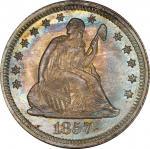 1857 Liberty Seated Quarter. MS-67 (PCGS).
