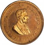 1861 Abraham Lincoln Civil War Soldier Identification Disc. Copper. 30 mm. By F. B. SMITH. Cunningha