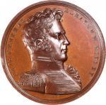 1814 Brigadier General Eleazer W. Ripley Medal Muling. Bronze. 65 mm. Julian MI-19 / MI-18. Mint Sta