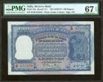 INDIA. Reserve Bank of India. 100 Rupees, ND (1949-57). P-43a. PMG Superb Gem Uncirculated 67 EPQ.