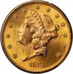 1884-S Liberty Head Double Eagle. MS-64+ (PCGS). CAC.