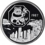 1987年第6届香港国际硬币展览会纪念银章5盎司 NGC PF 69