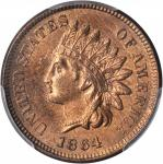 1864 Indian Cent. Bronze. L on Ribbon. Snow-10a. MS-65 RB (PCGS).
