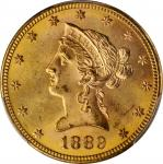 1889-S Liberty Head Eagle. MS-64 (PCGS).