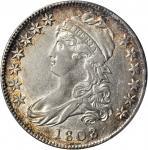 1808/7 Capped Bust Half Dollar. O-101. Rarity-1. AU-53 (PCGS).