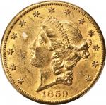 1859-S Liberty Head Double Eagle. MS-60 (PCGS). CAC.