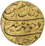 MUGHAL: Aurangzeb, 1658-1707, AV mohur 4010。90g41, Shahjahanabad 40Delhi41, AH1099 year 32, KM-315。4