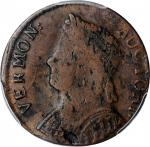 1786 Vermont Copper. RR-10, Bressett 10-G, W-2045. Rarity-4. Bust Left. VF-20 (PCGS).
