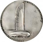 1933 General Motors 25th Anniversary Medal. Silver-Plated Bronze. 76 mm. By Norman Bel Geddes. MS-64