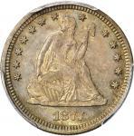 1877-S/S Liberty Seated Quarter. Briggs 4-D, FS-501. S/Horizontal S. MS-65 (PCGS).