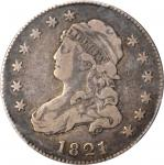 1821 Capped Bust Quarter. B-6. Rarity-7. VF-20 (PCGS).