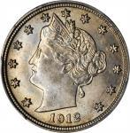 1912-S Liberty Head Nickel. MS-64 (PCGS).