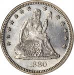 1880 Liberty Seated Quarter. Briggs 1-A. MS-66 (NGC).