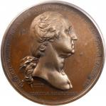 1776 (1845-1860) Washington Before Boston Medal. Third Reverse. Bronze. 68.5 mm. Musante GW-09-P3, B