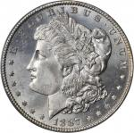 1887/6 Morgan Silver Dollar. VAM-2. Top 100 Variety. MS-65 (PCGS).