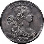 1806 Draped Bust Cent. S-270, the only known dies. Rarity-1. MS-63 BN (PCGS).