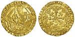 Richard II (1377-99), Noble, type IVa, 7.62g, mm. -, ric/ard dei g rex angl?z f dns?hib?z aq/t, sing