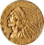 1916-S Indian Half Eagle. AU Details--Cleaned (PCGS).
